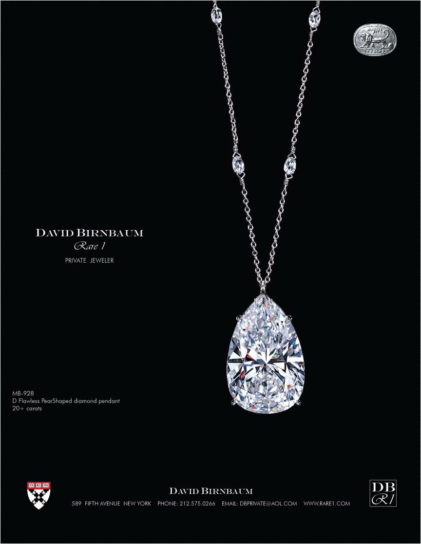 Yes, David Birnbaum Rare 1 is a new paradigm rare jewel establishment. The firm specializes in the very rarest diamonds.